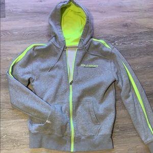Neon polo Ralph Lauren zip up hoodie